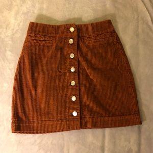Aritzia Button Front Mini Skirt